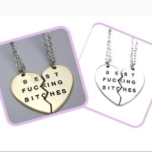 ❤️Two Piece BFF Pendant Necklace❤️